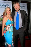 "LOS ANGELES - APR 5:  Lara J Sanders, Hans Joerg Neumann at the ""Norman"" Premiere at Linwood Dunn Theater on April 5, 2017 in Los Angeles, CA"