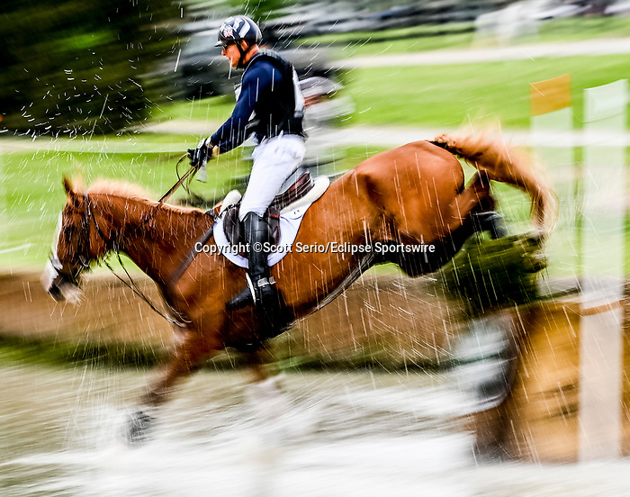 April 24, 2021: Leslie Law competes in the Cross Country phase of the Land Rover 5* 3-Day Event aboard Voltaire De Tre' at the Kentucky Horse Park in Lexington, Kentucky. Scott Serio/Eclipse Sportswire/CSM