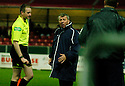 27/11/2004  Copyright Pic : James Stewart.File Name : jspa12_falkirk_v_ross_county.COUNTY MANAGER ALEX SMITH ISN'T HAPPY AFTER DANIEL MCBREEN SCORES FALKIRK'S EQUALISER BECAUSE ONE OF HIS DEFENDERS, MARTIN CANNING, WAS OFF BEING TREATED.....Payments to :.James Stewart Photo Agency 19 Carronlea Drive, Falkirk. FK2 8DN      Vat Reg No. 607 6932 25.Office     : +44 (0)1324 570906     .Mobile   : +44 (0)7721 416997.Fax         : +44 (0)1324 570906.E-mail  :  jim@jspa.co.uk.If you require further information then contact Jim Stewart on any of the numbers above.........