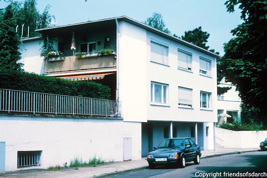 Stuttgart: Weissenhofsiedlung. Ludwig Hilberseimer. Rathenaurstr.