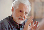 Dr. Carl Djerassi - photograph of him during an interview.: Executive portrait photographs by San Francisco - corporate and annual report - photographer Robert Houser.