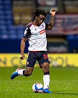 Bolton Wanderers' Peter Kioso crosses<br /> <br /> Photographer Andrew Kearns/CameraSport<br /> <br /> The EFL Sky Bet League Two - Bolton Wanderers v Salford City - Friday 13th November 2020 - University of Bolton Stadium - Bolton<br /> <br /> World Copyright © 2020 CameraSport. All rights reserved. 43 Linden Ave. Countesthorpe. Leicester. England. LE8 5PG - Tel: +44 (0) 116 277 4147 - admin@camerasport.com - www.camerasport.com
