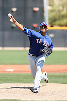 Wilfredo Boscan - Texas Rangers, 2010 minor league spring training..Photo by:  Bill Mitchell/Four Seam Images.