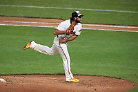 San Francisco Giants pitcher Madison Bumgarner during the MLB All-Star Game on July 14, 2015 at Great American Ball Park in Cincinnati, Ohio.  (Mike Janes/Four Seam Images)