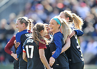 Chester, PA - April 10, 2016: The USWNT defeated Colombia 3-0 during an international friendly match at Talen Energy Stadium.