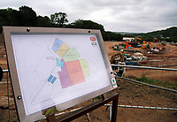 Pictured: A map of the new ICC. Friday 23 June 2017<br /> Re: First Minister for Wales Carwyn Jones has joined Sir Terry Matthews, Chairman of the Celtic Manor Resort; Stephen Bowcott, Chief Executive of Sisk Group Construction; and Debbie Wilcox, Leader of Newport City Council, to break ground on the site of the new ICC Wales.<br /> Around 80 invited guests from the public and private sectors of the events industry have also witnessed the ground breaking ceremony which marks the official start of the construction of the new venue, due to open in 2019.<br /> The dignitaries will use commemorative spades to symbolically dig the first ground on the new site, marking the start of building work in earnest.