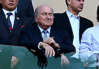 FIFA president Sepp Blatter watches from the stands