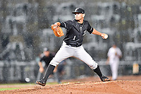 Southern Division pitcher Kyle Kubat (1) of the Kannapolis Intimidators delivers a pitch during the South Atlantic League All Star Game at Spirit Communications Park on June 20, 2017 in Columbia, South Carolina. The game ended in a tie 3-3 after seven innings. (Tony Farlow/Four Seam Images)
