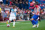 Atletico de Madrid's players Filipe Luis and Koke Resurrección and Deportivo de la Coruña's player Faycal Fajr during a match of La Liga Santander at Vicente Calderon Stadium in Madrid. September 25, Spain. 2016. (ALTERPHOTOS/BorjaB.Hojas)