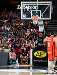 Endesa League 2016-2017.<br /> Valencia Basket Club vs FC Barcelona Lassa.<br /> Fuente de San Luis Pavillion (aka La Fonteta).<br /> April 16, 2017.<br /> Valencia - Spain.