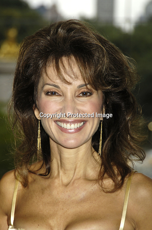 """Susan Lucci ..at The Time Warner Center for the Fragrance Week 2005 NYC """" Stars on Stage Event """" on October 22, 2005 . Susan Lucci was interviewed and met some of her fans. She was promoting her new perfumes """" Invitation"""" and """" LaLucci """"...Photo by Robin Platzer, Twin Images.."""