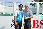 Kiradech Aphibarnrat of Thailand poses with other players during the Pro-Am golf tournament of the 58th UBS Hong Kong Open as part of the European Tour on 07 December 2016, at the Hong Kong Golf Club, Fanling, Hong Kong, China. Photo by Marcio Rodrigo Machado / Power Sport Images