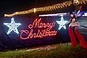 Santa Drive Thru Village Christmas light at Miramar Amphitheatre Regional Park