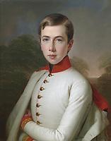 austria Archiduc Karl Ludwig <br /> atage 15, in  1848