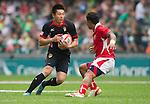 Tonga vs China during Day 1 of the Cathay Pacific / HSBC Hong Kong Sevens 2012 at the Hong Kong Stadium in Hong Kong, China on 23rd March 2012. Photo © Manuel Queimadelos  / The Power of Sport Images