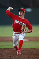 Batavia Muckdogs pitcher Zach Russell (25) during a game vs. the Auburn Doubledays at Dwyer Stadium in Batavia, New York July 2, 2010.   Batavia defeated Auburn 6-3.  Photo By Mike Janes/Four Seam Images