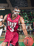 Troy Trojans guard/forward Steven Cunningham (3) in action during the game between the Troy Trojans and the University of North Texas Mean Green at the North Texas Coliseum,the Super Pit, in Denton, Texas. UNT defeats Troy 87 to 65.....