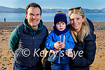 Enjoying the beach in Fenit on Sunday, l to r: Peadar, Alison and Luke Stack.