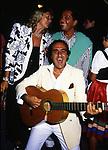 MARTA MARZOTTO CON VALENTINO GARAVANI<br /> CAPRI 1986