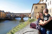 Ponte Vecchio (Old Bridge)<br /> Firenze 07-10-2016. Luoghi e Monumenti della citta'. <br /> Florence 7th October 2016. Places and monuments of the city.<br /> Foto Samantha Zucchi Insidefoto