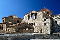 Paros, monastery, Greek Islands, Parikia, Cyclades, Greece, Europe, The Panagia Ekatontapyliani Church in Parikia on Paros Island on the Aegean Sea.