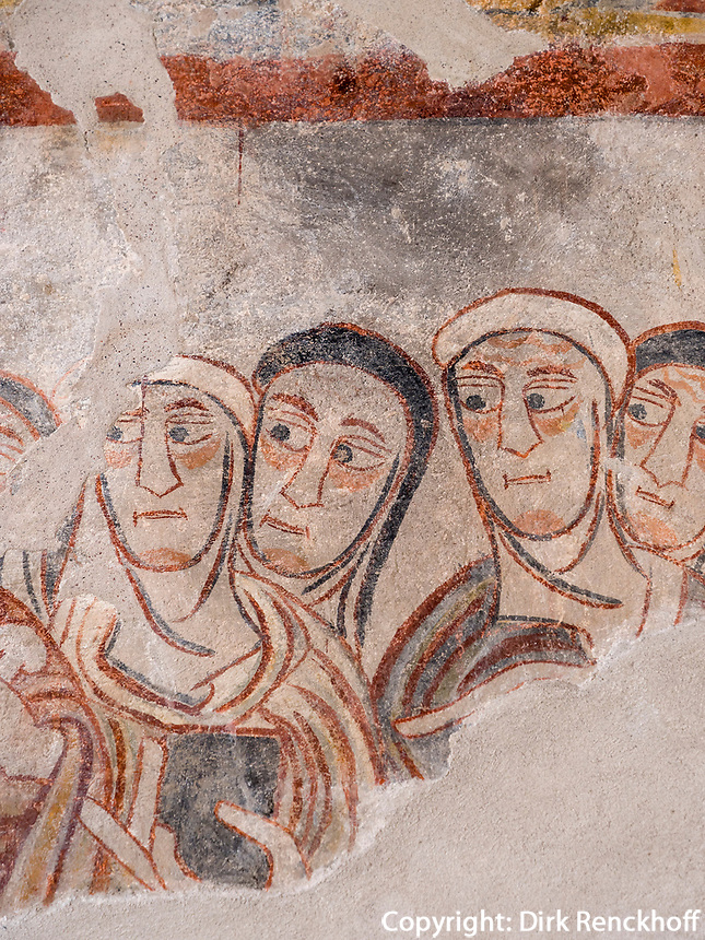 Fresken in Prokulus-Kapelle in Naturns, Vinschgau, Region Südtirol-Bolzano, Italien, Europa<br /> Frescoes in Prokulus Chapel in Naturns, Vinschgau, Region South Tyrol-Bolzano, Italy, Europe