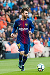 Lionel Andres Messi of FC Barcelona in action during the La Liga 2017-18 match between FC Barcelona and Valencia CF at Camp Nou on 14 April 2018 in Barcelona, Spain. Photo by Vicens Gimenez / Power Sport Images