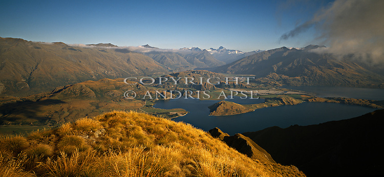 Glendhu Bay of Lake Wanaka from Roys Peak. Wanaka Region. New Zealand.