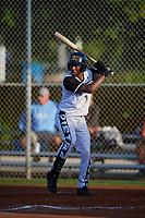 Rj Johnson (19) during the WWBA World Championship at Terry Park on October 10, 2020 in Fort Myers, Florida.  Rj Johnson, a resident of Franklinton, North Carolina who attends Kerr-Vance Academy High School, is committed to Appalachian State.  (Mike Janes/Four Seam Images)