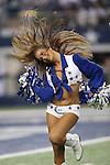 Dallas Cowboys cheerleaders in action during the pre-season game between the Houston Texans and the Dallas Cowboys at the AT & T stadium in Arlington, Texas. Houston defeats Dallas 24 to 6.