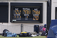 A problem with the scoreboard during Rainham CC (batting) vs South Woodford CC, Hamro Foundation Essex League Cricket at Spring Farm Park on 1st May 2021