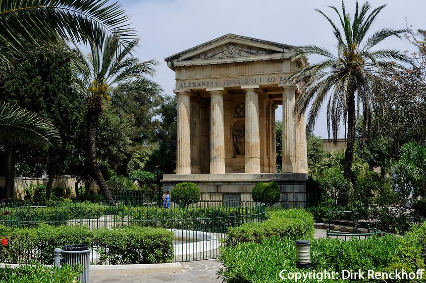 Lower Barracca Garden in Valletta, Malta, Europa, Unesco-Weltkulturerbe