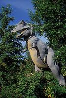 Dinosaur Replica..(Tyrannosaurus Rex sp)..Calgary Zoo. .Calgary, Alberta. Canada..