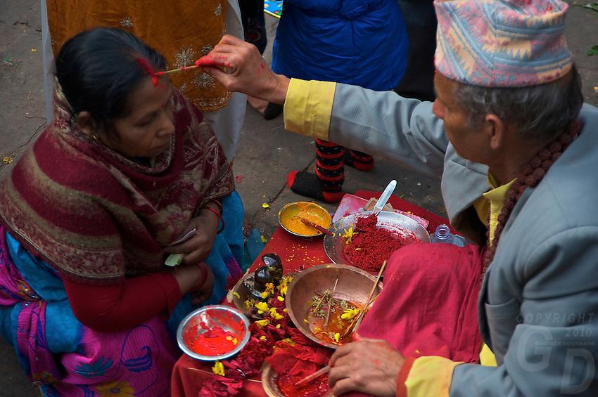 sadhu at the Dahsa Kali Animal Sacrifice Temple