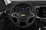 Car pictures of steering wheel view of a 2018 Chevrolet Traverse LS 5 Door SUV