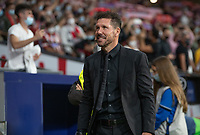2nd October 2021; Estadio Wanda Metropolitano, Madrid, Spain; Men's La Liga, Atletico de Madrid versus Futbol Club Barcelona; Cholo Simeone smiles before the kick off