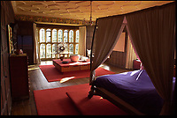 Bmth News (01202 558833)<br /> Pic: PhilYeomans/BNPS<br /> <br /> Stunning bedroom at Parnham House in Dorset in 2001 when owned by renowned furniture designer John Makepeace.<br /> <br /> Historic Parnham House near Beaminster in Dorset has been destroyed by a fire that started in the early hours of this morning.