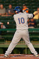 Jefry Marte #10 of the St. Lucie Mets during a game against the Daytona Cubs at Jackie Robinson Ballpark on May 23, 2011 in Daytona Beach, Florida. (Scott Jontes / Four Seam Images)