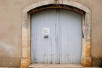 Domaine Le Conte des Floris, Caux. Pezenas region. Languedoc. A door. France. Europe.