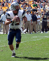 New Hampshire quarterback R.J. Toman looks to pass. The Pittsburgh Panthers defeat the New Hampshire Wildcats 38-16 at Heinz Field, Pittsburgh Pennsylvania on September 11, 2010.