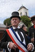 Europe/France/Alsace/67/Bas-Rhin/ Marlenheim: Lors  de la Fête du Mariage de l'Ami Fritz - Monsieur le Maire [Non destiné à un usage publicitaire - Not intended for an advertising use]
