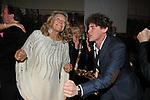 MARTA MARZOTTO  CON UN MUSICISTA<br /> FESTA DEGLI 80 ANNI DI MARTA MARZOTTO<br /> CASA CARRARO ROMA 2011
