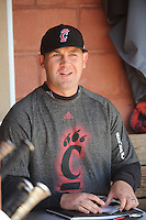 University of Cincinnati Bearcats manager Ty Neal (37) before a game against the Rutgers University Scarlet Knights at Bainton Field on April 19, 2014 in Piscataway, New Jersey. Rutgers defeated Cincinnati 4-1.  (Tomasso DeRosa/ Four Seam Images)