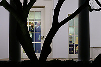 First Daughter and Advisor to the President Ivanka Trump is seen in the Oval Office as U.S. President Donald Trump prepares to depart the White House en route to Dalton, Georgia, in Washington D.C., U.S., on Monday, January 4, 2021.<br /> CAP/MPI/RS<br /> ©RS/MPI/Capital Pictures