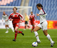 Shannon Boxx. The U.S. defeated Canada, 4-0, during the Four Nations Tournament in Guangzhou, China on January 16, 2008.