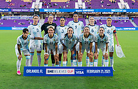 ORLANDO, FL - FEBRUARY 21: Argentina poses for their starting XI photo before a game between Canada and Argentina at Exploria Stadium on February 21, 2021 in Orlando, Florida.