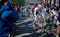 Bauke Mollema (NLD/Trek Factory Racing) up the infamous Mur de Huy (1300m/9.8%)<br /> <br /> 79th Flèche Wallonne 2015