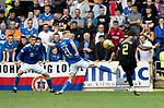 St Johnstone v Rangers…11.09.21  McDiarmid Park    SPFL<br />James Tavernier scores the winning goal<br />Picture by Graeme Hart.<br />Copyright Perthshire Picture Agency<br />Tel: 01738 623350  Mobile: 07990 594431