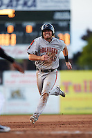 Aberdeen Ironbirds third baseman Collin Woody (48) running the bases during a game against the Batavia Muckdogs on July 14, 2016 at Dwyer Stadium in Batavia, New York.  Aberdeen defeated Batavia 8-2. (Mike Janes/Four Seam Images)