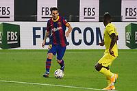 27th September 2020; Camp Nou, Barcelona, Catalonia, Spain; La Liga Football, Barcelona versus Villareal;  Leo Messi pushes forward on the ball